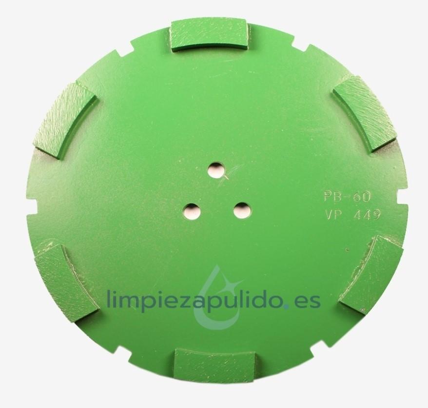 corona diamante metalico para satelite verde